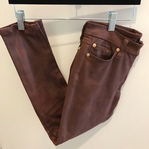7 for All Mankind faux leather looking pants